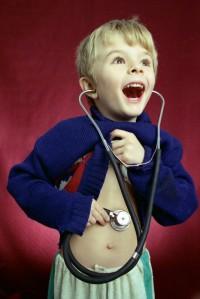 Boy & stethoscope